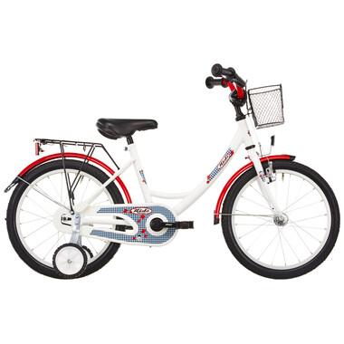 """Vélo Enfant VERMONT KARO 18"""" Blanc/Rouge 2019"""